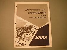 1969 Vintage Johnson Skee-Horse Snowmobile Parts Manual