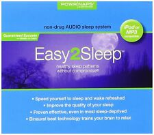 Easy2sleep CD ipod MP3 Power Naps Non Drug Binaural Sleep Audio System Digipack