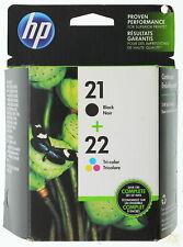 HP 21 Black + 22 Tri-Color Ink Cartridge