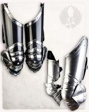 LARP 18GA Steel Medieval Knight Edward leg armor Pair Of Upper Leg Armor
