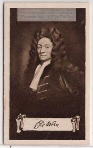 Christopher Wren English Anatomist  Astronomer Architect 1920s Ad Trade  Card