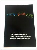 1969 AMC Big Bad Javelin AMX Colors Original Vintage Car Sales Brochure Catalog