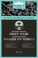 Charcoal Danielle Face Masks - Detoxifying Bamboo Charcoal Sheet Mask - 4 pcs