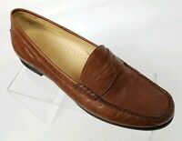 Cole Haan NikeAir Womens Penny Loafers Brown Leather Size 9.5 AA Narrow