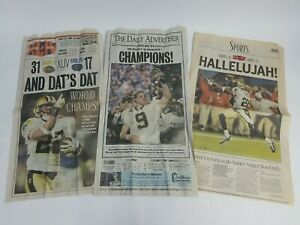New Orleans Saints Super Bowl Champions Newspapers