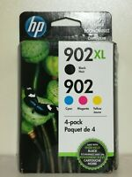 HP 902XL/902 High Yield Black&Standard C/M/Y Color Ink Cartridges T0A39AN 2021