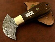 Handmade Damascus Steel Saddler Leather Cutting Tool-QD14