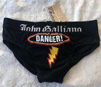 John Galliano black brief slip new Danger style