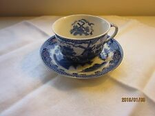 Windmill Cup and Saucer Blue and white Japan Vintage