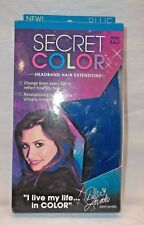 Secret Color Blue Headband Hair Extension Party Halloween Concert Decor ASOT NIB