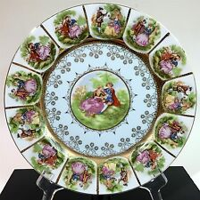 Vtg Arnart Imports Beehive Mark Art Nouveau Porcleain Decorative Plate