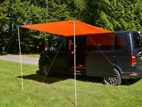 VW Camper Sun Canopy Awning Conversion Motorhome 2.4m x 2.4m BURNT ORANGE 2 pole