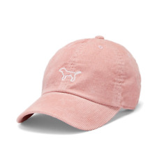919f980d82e60 Victoria s Secret PINK Dog Logo Corduroy Baseball Hat Cap Brand New SEALED
