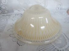 Vintage Glass Lamp Light Shade Clear Gold Frosted  3 Hole