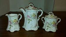 Romantic Rose Teapot Sugar Creamer Set Victoria