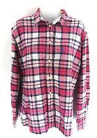 JACK WILLS Womens Shirt 12 Pink White Check Cotton