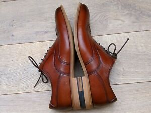 Mens Stacy Adams Dunbar Cognac Brown Leather Casual Dress Wingtip Oxfords US 8.5
