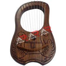 Lyre Harp Rose Wood 10 Metal String Engraved Celtic Harp Design/Lyre Harfe/Lyra