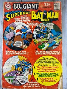 Vintage 1965 DC 80 Page Giant #15 Superman and Batman With Robin Comic Book