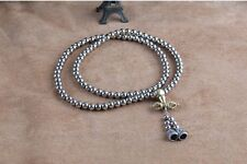 108 Steel Beads Outdoor Self-Defense Silvery Safety Necklace Beads Whip Bracelet
