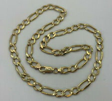 """9ct Gold Hallmarked 22"""" Heavy Figaro Chain Necklace.  Goldmine Jewellers."""