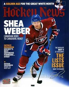 Shea Weber Montreal Canadiens Signed Autographed Hockey News Cover 16x20 S