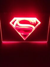 Superman S Dc Superhero 8�x12� Red Led Wall Light Sign Display