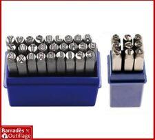 ### Jeu de 36 Lettres + Chiffres à frapper  - Hauteur : 3 mm