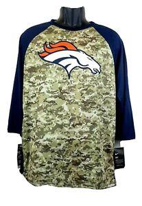 NEW Nike Denver Broncos Salute to Service 3/4 Sleeve Dri Fit Shirt Size Large