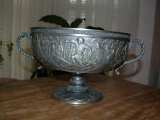 FRANKLIN MINT LEGENDS OF CAMELOT EXCALIBUR KING ARTHUR PEWTER BOWL