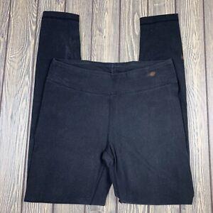 danskin now womens small full length solid black leggings