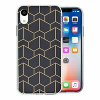 For Apple iPhone XR Silicone Case Geometric Abstract - S6130