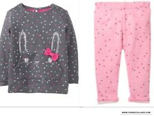 GYMBOREE NWT BUNNY LONG SLEEVE TOP AND LINED LEGGINGS NEW 3T