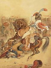 Hussard à cheval armée Napoléon Entourage et époque de GÉRICAULT framed militry