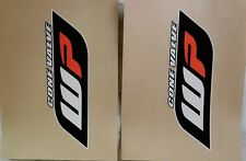 Gabelschutzfolie Gabelaufkleber Orange Weiß Schwarz WP48 WP 48 KTM Husqvarna