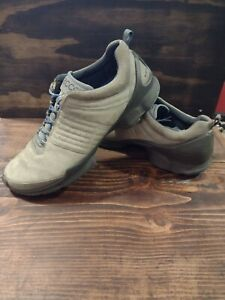 Ecco Biom Train Natural Motion Leather  Men's Shoes US Size 12.5 Gray/ Blue
