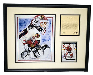 1994 Ed Balfour Chicago Blackhawks Framed Kelly Russell Lithograph Print #1054