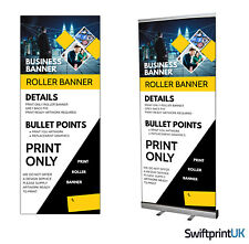 More details for roller banner print only  your artwork - pop/roll/pull up display exhibition