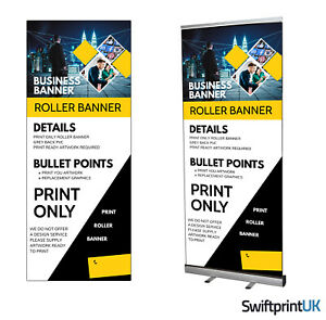 Roller Banner PRINT ONLY  Your Artwork - Pop/Roll/Pull up Display Exhibition