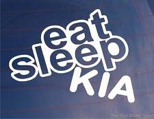 EAT SLEEP KIA Funny EURO JDM Car/Window/Bumper/Laptop Sticker/Decal