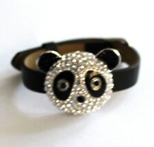Butler and Wilson Crystal One Large Panda Head Strap Bracelet NEW SALE