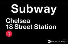 Chelsea New York City Subway Station Sign Metal