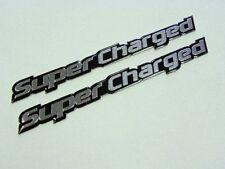 Qty 2 Supercharged Blown Engine Emblems Badge Fender Trunk Bumper Hood Scoop