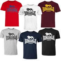 Lonsdale Classic Logo Lion T-Shirt Black Grey Blue Oxblood White Red Regular Fit