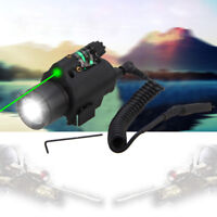 Tactical Q5 LED 300LM Flashlight Green/Red Laser Sight Combo