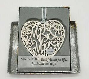"""Wedding Gift Ornament Mr. Mrs. """"Best Friends For Life, Husband & Wife"""" Christmas"""