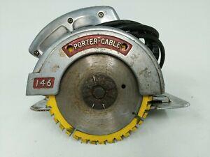 Vintage Porter Cable 146 6 1/2 115 v 9 amp 10971 Circular Saw tool works