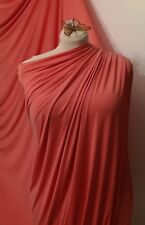 "CORAL Jersey Lycra Spandex 4 Way Stretch Fabric, Dress Prom Dance Wear 60"" 150cm"