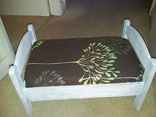 Small Pet Bed. Small Dog / Cat. Up Cycled. Shabby Chic White.