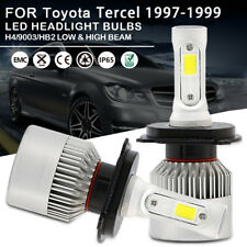 2pc LED Headlight Bulbs H4 9003 HB2 High Low Beam For Toyota Tercel 1997-1999
